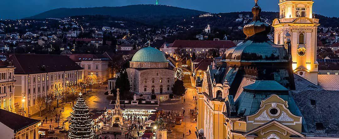 Christmas in Pécs city